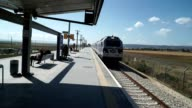 Arrival of a train at the Afula station as part of the Jezreel Valley railway