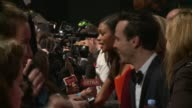 Arrivals and interviews at 'Spectre' film premiere Sam Smith on red carpet / Andrew Scott and Naomie Harris talking to press / David Bautista talking...