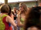 Arrivals at 'Mamma Mia' film premiere Ashley Lilley arriving at premiere