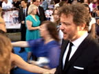 Arrivals at 'Mamma Mia' film premiere Colin Firth as interviewed We claim Abba for our own Talks about where tour with film is going