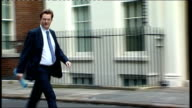 Arrivals for weekly Cabinet meeting ENGLAND London Downing Street EXT Cabinet arrivals Theresa May MP / Iain Duncan Smith MP / Danny Alexander MP /...