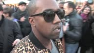 arrives at Vivienne Westwood's paris Fashion Week A/W 2011 Show Kanye West on March 04 2011 in Paris France