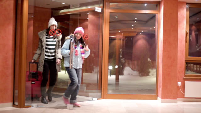 Arriving at hotel.