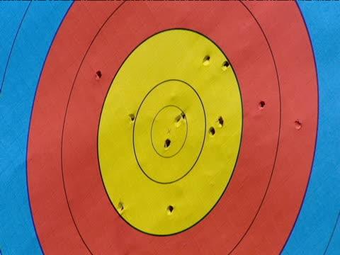 Arrow hits archery target
