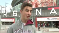 Arsenal and Cologne charged by UEFA following Europa League match Maurice Schmelter setup shot with reporter / interview SOT Arsenal cannons outside...