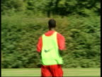 Anelka row LIB ENGLAND London EXT GVs Nicolas Anelka along in training