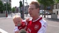 Arsenal fans not happy on transfer deadline day ENGLAND London EXT Vox pops