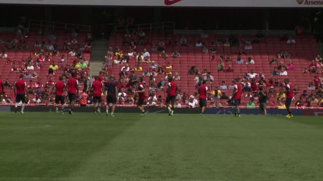 Arsenal held an open training session Thursday ahead of the start of the new English Premier League season on August 17th CLEAN Arsenal train ahead...