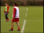 Herts London Colney Arsene Wenger along watching training session GVS players training Robert Pires training players train Tony Adams training Lee...