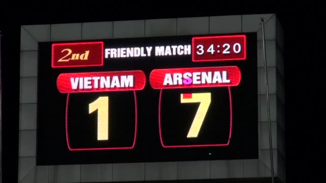 Arsenal pummeled the Vietnamese national football team into submission with a 71 romp on Wednesday at the 40000 seat My Dinh Stadium in Hanoi CLEAN...