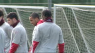 London Colney EXT Arsene Wenger on training pitch / Team training including Thomas Vermaelen Denilson Gael Clichy Alex Song / General view of players...