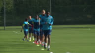 Arsenal training at their London Colney base