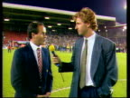 Arsenal win the League Championship ENGLAND Liverpool Anfield George Graham intvwd