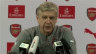 Arsene Wenger gives an update on the team news for Arsenal Aaron Ramsey is out with injury for three weeks He says that Danny Welbeck might come back...