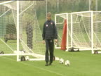 Arsene Wenger manager of Arsenal FC overseeing training from side of goal Arsenal FC training session London Colney 18 May 04