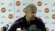 INT Arsene Wenger press conference SOT We had some players with kneck problems before Aston Villa game and thats why we decided to let them wear that