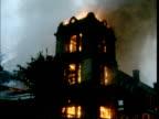 Arson insurance fraud London Alexandra Palace Cuts 10780 MS Hoses onto Alexandra Palace MS Flaming building GV Ditto MS Fire engine RL Tunbridge...