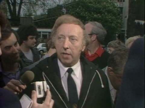 Arthur Scargill praises his wife and other miners wives who have been arrested on the picket lines during the miners strike