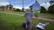 Artist painting in Alexandra park