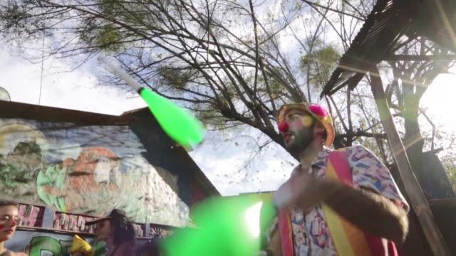 Artistas callejeros de Europa y America se reunen en la turistica ciudad de Granada en Nicaragua para participar en el VIII Festival Internacional de...
