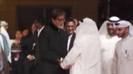 Artistic Director of DIFF Masoud Amralla Al Ali and Amitabh Bachchan at the Dubai International Film Festival 2009 Opening Gala at Dubai