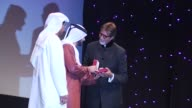 Artistic Director of DIFF Masoud Amralla Al Ali and His Highness Sheikh Majid Bin Mohammed Bin Rashid Al Maktoum presents the DIFF Lifetime...