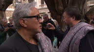 Artists Anish Kapoor and Ai Weiwei lead solidarity march for the 60 million refugees across the globe Anish Kapoor remarks on one of his statues in...