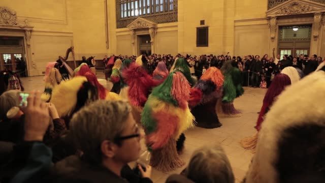 Artist's Nick Cave Installation And Performance Piece At NYC's Grand Central Terminal Nick Cave Creates Installation And Performance Piece At NYC's...