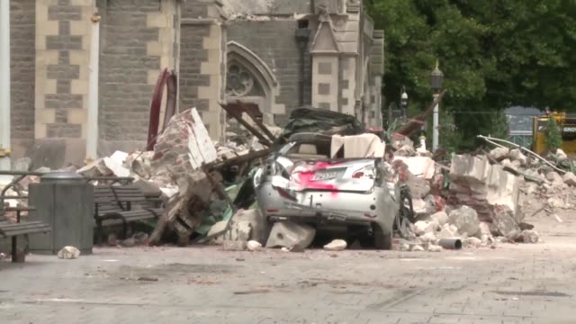 As New Zealanders fall silent to mark the moment last week when an earthquake tore apart Christchurch and claimed hundreds of lives AFPTV has...