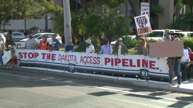 KSWB As part of a national protest San Diegans joined in rallying against the Dakota Access Pipeline The protest took place outside the Army Corps of...