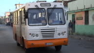 As part of the efforts to improve public transportation the government has deployed Cuban assembled buses into a line called 'Diana' Their task is to...