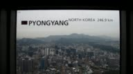 As tensions rise in the Korean peninsula people in Seoul's Namsan Tower observatory are given a stark reminder of just how close the South Korean...
