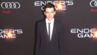Asa Butterfield at 'Ender's Game' Los Angeles Premiere in Hollywood CA on