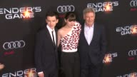 Asa Butterfield Harrison Ford Hailee Steinfeld at 'Ender's Game' Los Angeles Premiere in Hollywood CA on