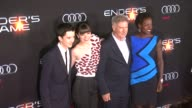 Asa Butterfield Harrison Ford Hailee Steinfeld Viola Davis at 'Ender's Game' Los Angeles Premiere in Hollywood CA on