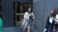 Asa Soltan Rahmati leaving the NBC Studios in Rockefeller Center Celebrity Sightings in New York on April 27 2015 in New York City New York