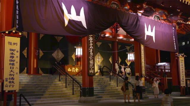 Asakusa Shrine at night in Tokyo, Japan