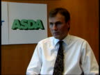 London Archie Norman interview SOT Talks of benefits of WalMart takeover CF = B0548377 or B0550895 202516 TO Order Ref BSP140699024