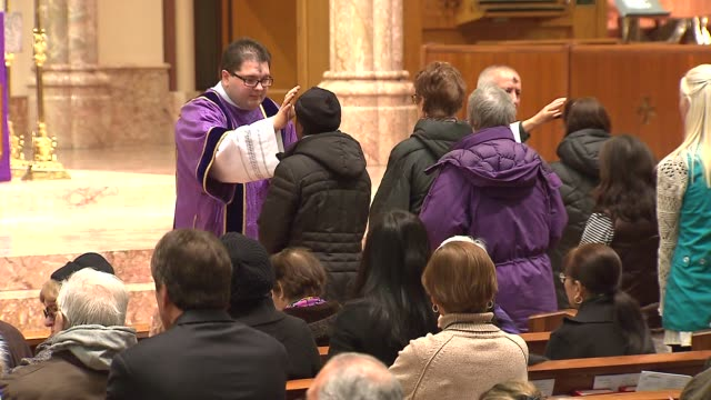 Ash Wednesday service at Holy Name Cathedral on March 05 2014 in Chicago Illinois