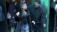 Ashanti leaves at Good Morning America 02/13/12 in Celebrity Sightings in New York