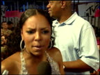 Ashanti talks about her upcoming role in 'Resident Evil 3' at the 2007 MTV Video Music Awards at the Palms Casino Resort in Las Vegas Nevada on...