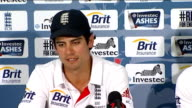 England beat Australia in First Test INT Alastair Cook press conference SOT Michael Clarke press conference SOT