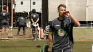 England team practice at old Trafford Australians cricket team practising in the nets