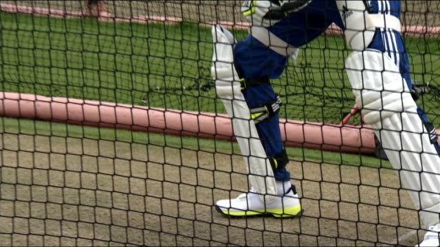 England team practice at old Trafford England cricket team at practice nets