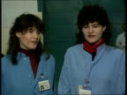 Ashford school experiment BAe TMS Pupils with man at computer terminal CBV Pupil at VDU CMS Sophie Duncan intvwd SOF as sister Natasha next dreams of...