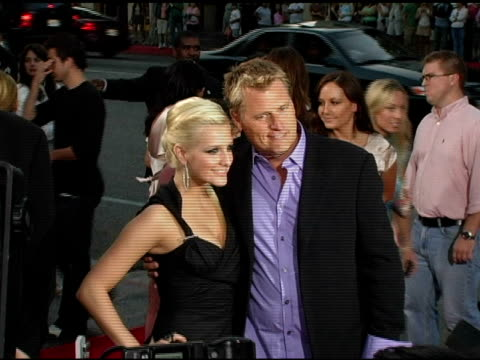 Ashlee Simpson and Joe Simpson at the 'Undiscovered' Los Angeles Premiere at the Egyptian Theatre in Hollywood California on August 23 2005