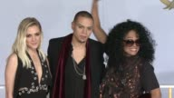 Ashlee Simpson Evan Ross and Diana Ross at 'The Hunger Games Mockingjay Part 1' Los Angeles Premiere at Nokia Theatre LA Live on November 17 2014 in...