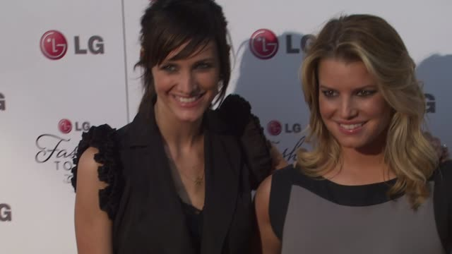 Ashlee SimpsonWentz and Jessica Simpson at the A Night Of Fashion And Technology With LG Mobile Phones at West Hollywood CA