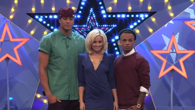 Ashley Banjo Kimberley Wyatt Aston Merrygold at the launch of Got To Dance 4 at Clapham Common on September 17 2012 in London England