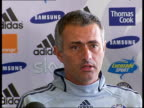 Press conference and photocall ENGLAND London Stamford Bridge Jose Mourinho and new Chelsea signing Ashley Cole sitting in press conference Jose...